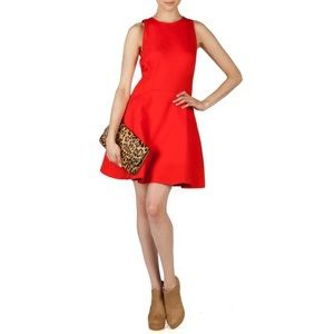 Ted Baker Red Hearn Fit and Flare Dress